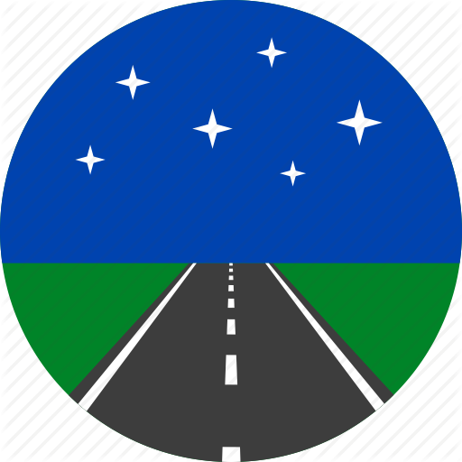 Asphalt, Highway, Horizon, Night, Road, Stars, Way Icon