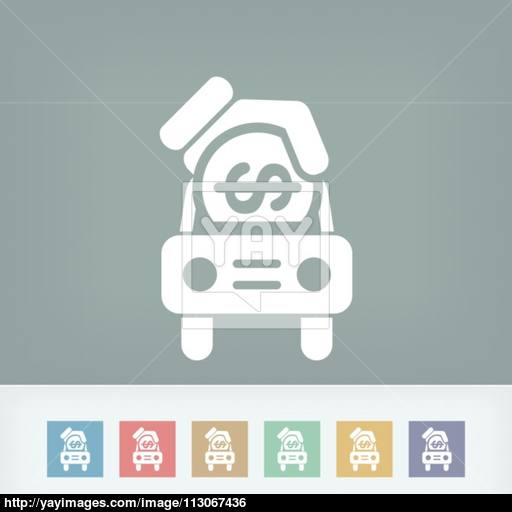 Car Money Icon Vector