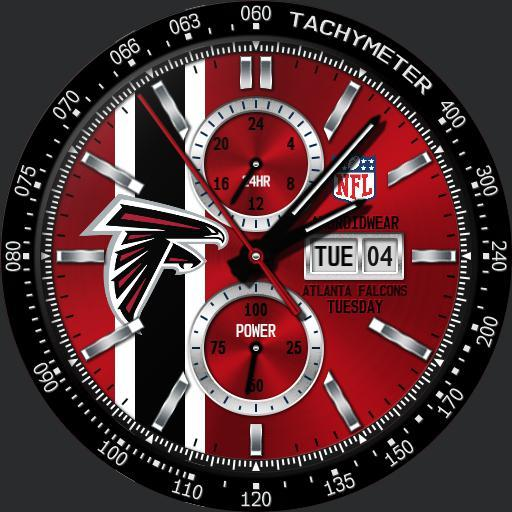 Sports Atlanta Falcons Nfl Modular Racer Watchfaces For Smart