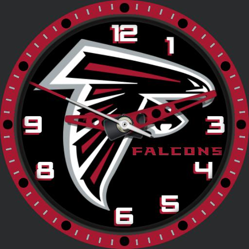 Sports Nfl Atlanta Falcons Logo Watchfaces For Smart Watches