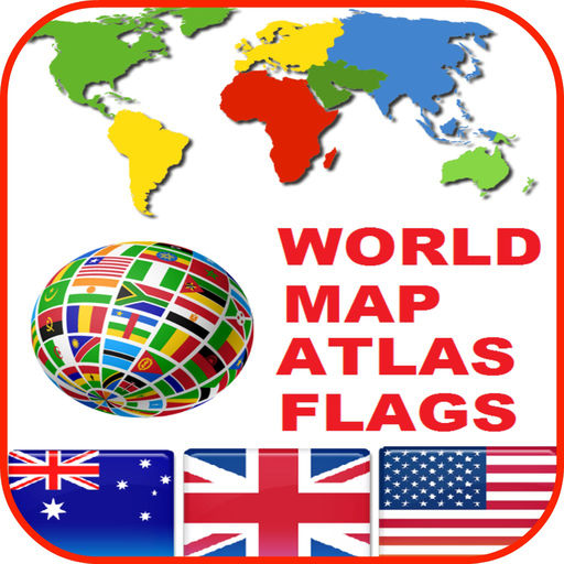 World Map Atlas Countries Flags Icons And Wallpaper