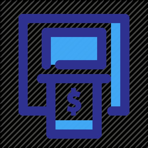 Atm, Bank, Card, Machine Icon