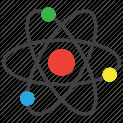 Atom, Atomic, Physics Icon