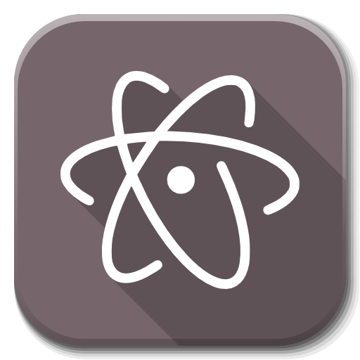 Apps Atom Icon Flatwoken Iconset Alecive