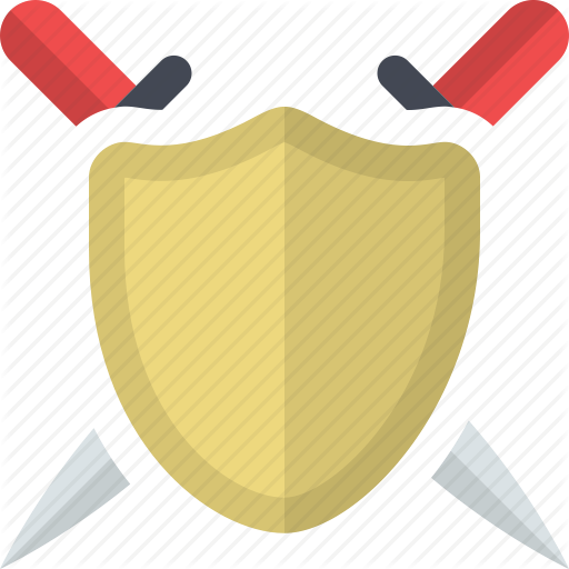 Attack, Kingdom, Protection, Safety, Security, Shield, Swords Icon