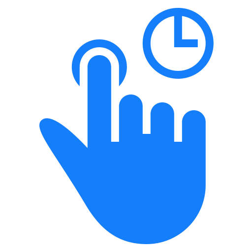 Finger, Hold, One, Tap Icon