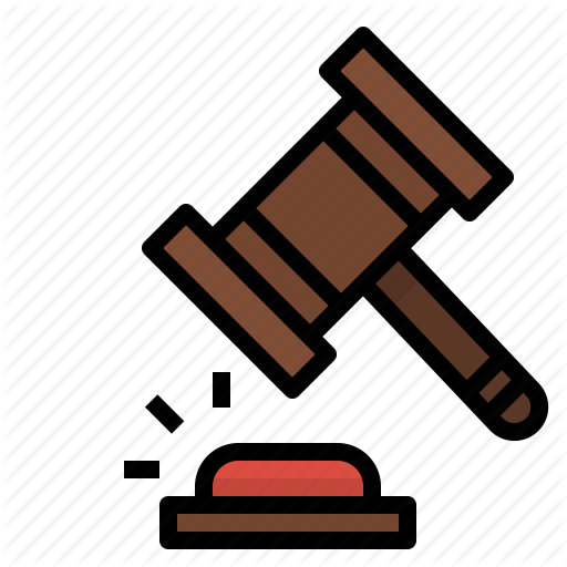 Auction, Bid, Hammer, Judge, Justice, Law, Verdict Icon