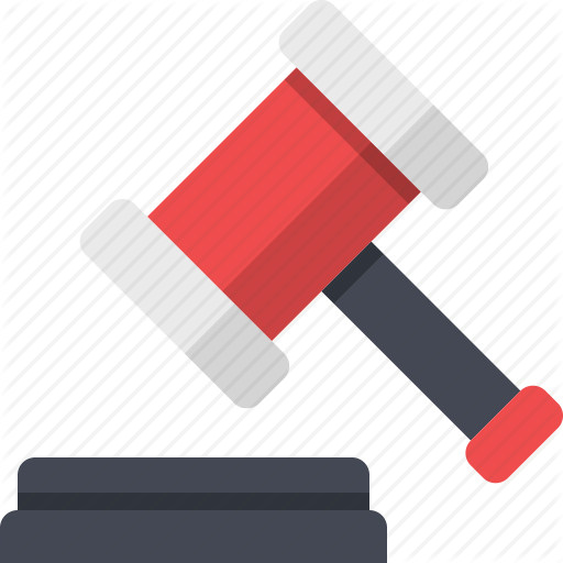 Auction, Court, Gavel, Hammer, Justice, Law Icon