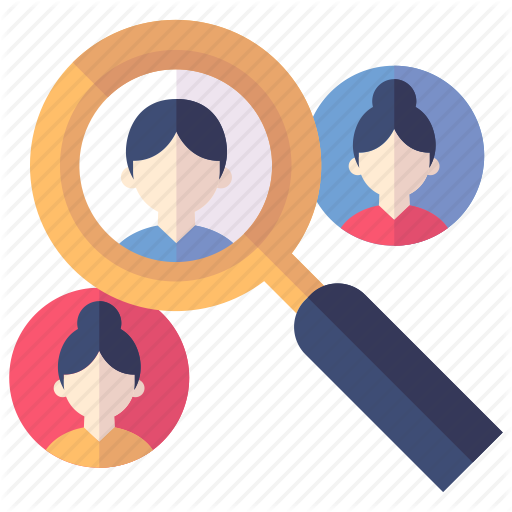 Find Friend, Search, Target Audience Icon