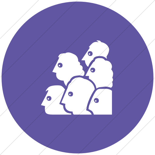 Flat Circle White On Purple Classica Audience Icon