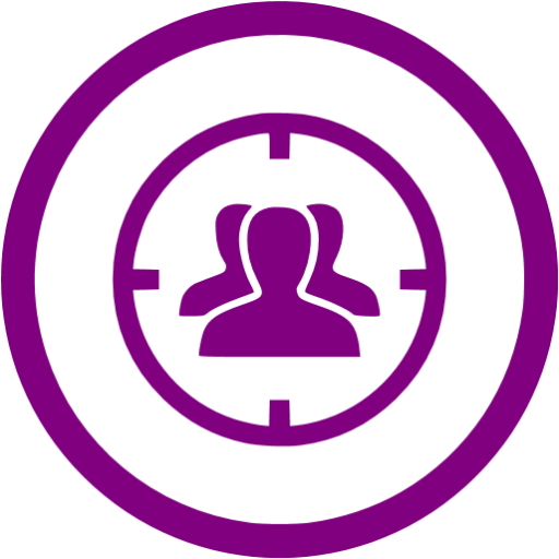 Purple Target Audience Icon