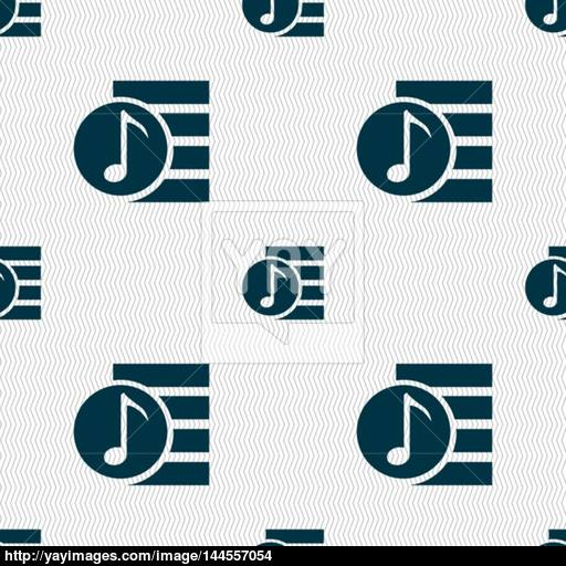 Audio, Icon Sign Seamless Abstract Background