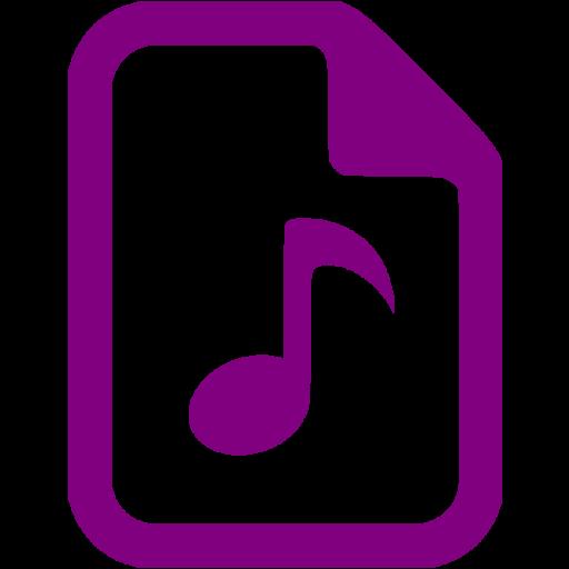 Purple Audio Icon