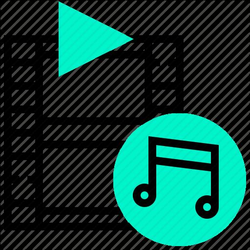 Audio, Audiovisual, Learning, Movie, Multimedia, Sound, Tutorial Icon