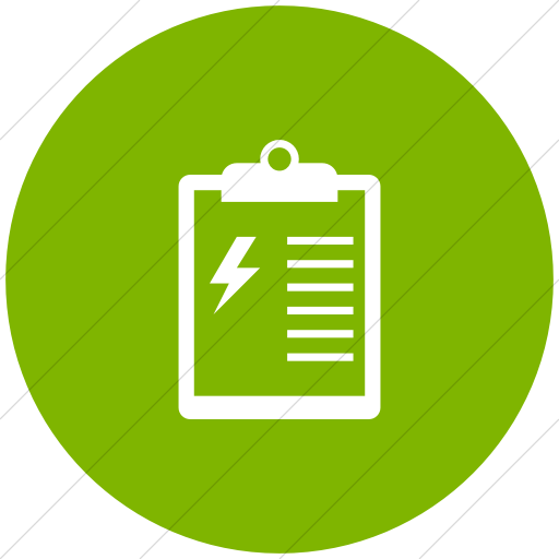 Flat Circle White On Green Iconathon Energy Audit Icon