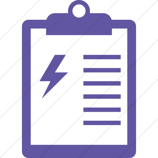 Simple Purple Iconathon Energy Audit Icon
