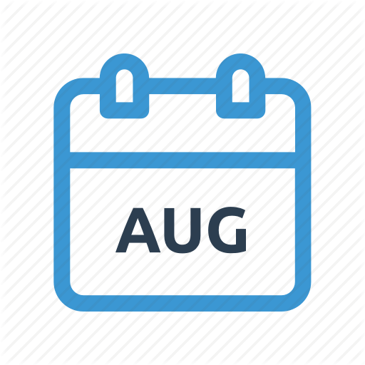 Aug, August, Calendar, Date, Event, Meeting, Month Icon