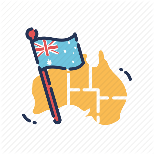 Aus, Aussie, Australia, Australia Day, Australian, Flag, Map Icon