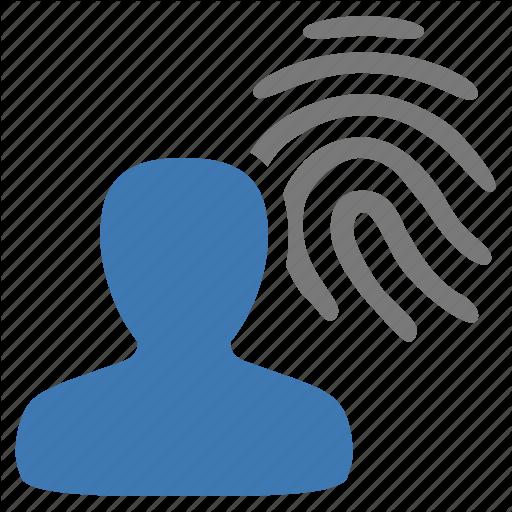 Authentication, Fingerprint, Management, Security, User Icon