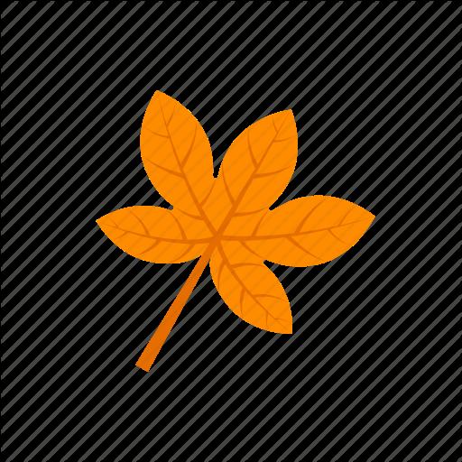 Autumn, Leaf, Orange, Palmatifid Icon