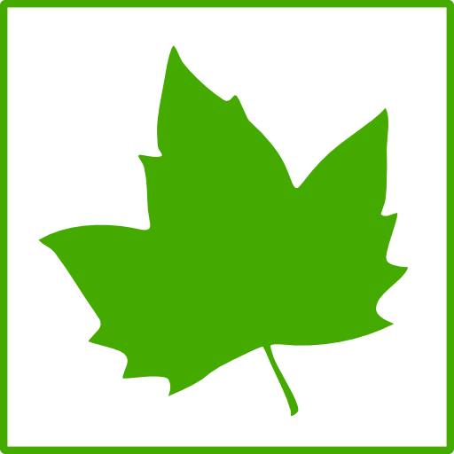 Eco Green Leaf Icon Clipart