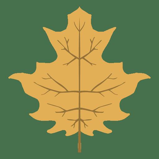 Yellow Autumn Leaf Icon