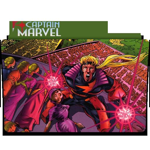 Captain Marvel Folder Icon Held Bild Idee