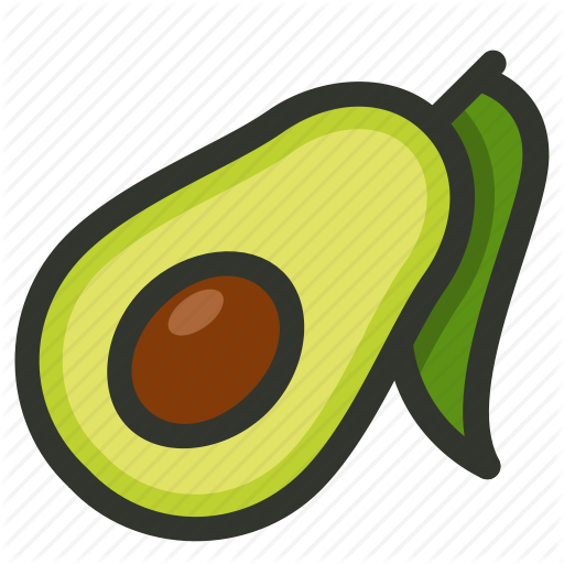 Avocado, Food, Fruit, Half, Seed Icon