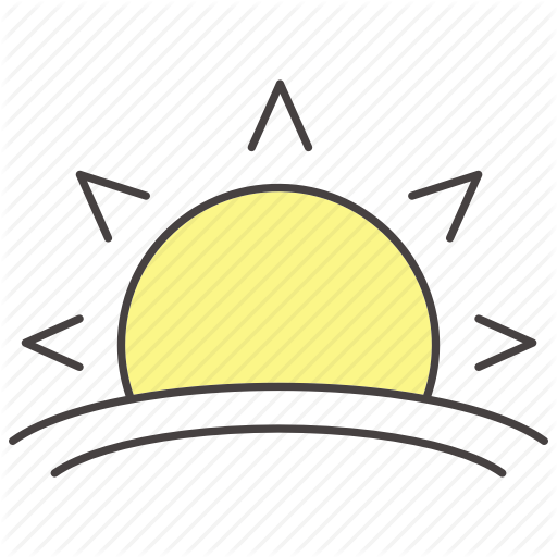 Awake, Morning, Sundown, Sunray, Sunrise, Sunset, Sunshine Icon