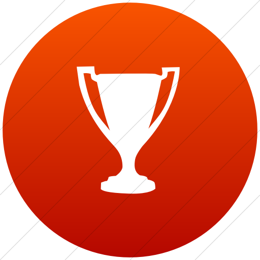Flat Circle White On Red Gradient Classica Award Trophy