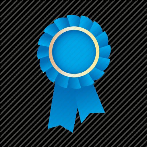 Award, Badge, Blue, Medal, Prize, Ribbon Icon