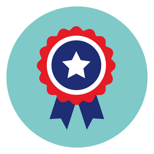 Ribbon Badge Round Icon