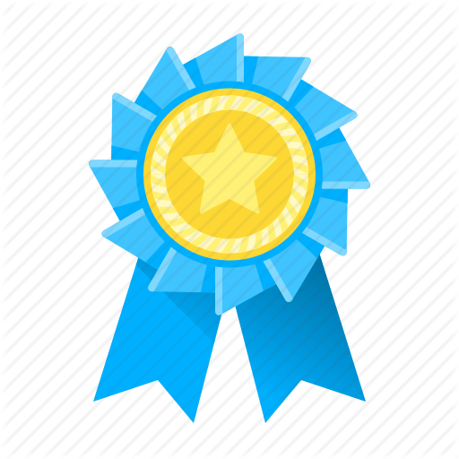 Achievement, Award, Awards, Blue, Medal, Ribbon, Trophy Icon