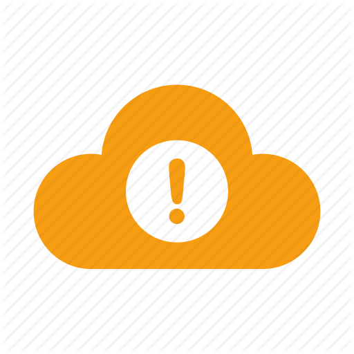 Alert, Aware, Caution, Cloud, Exclamation, Notification, Warning Icon