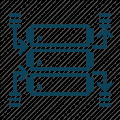 Data, Datawarehouse, Datenbank, Server Icon