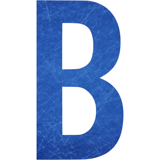 Blue And Scratched Letter B Icon