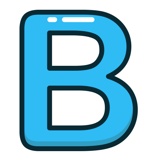 Letter, B, Alphabet, Blue, Letters Icon