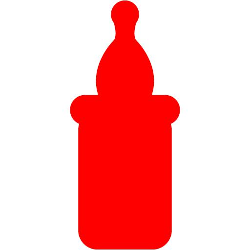 Red Baby Bottle Icon