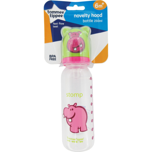 Tommee Tippee Baby Bottle Novelty Hood Fast Flow Teat Bpa Free