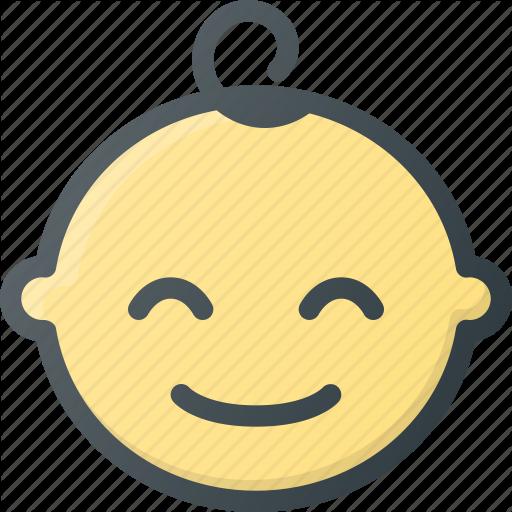 Baby, Boy, Child, Children, Face, Smile Icon