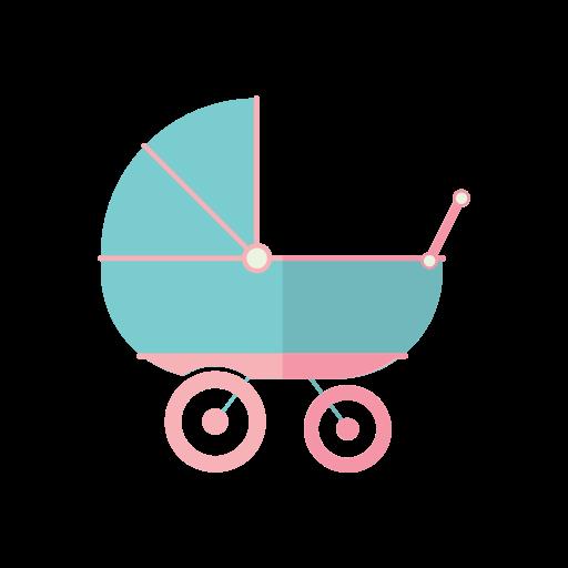 Baby, Boy, Girl, Kid, Toy, Trolley, Baby Strolley Icon Free