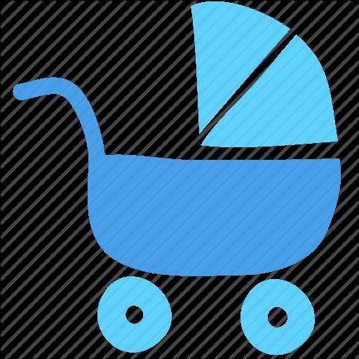 Baby, Baby Car, Carriage, Cart, Child, Newborn, Stroller Icon