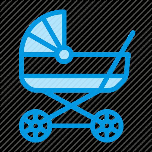 Baby, Carriage, Cart, Pram, Stroller Icon
