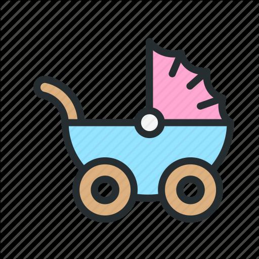 Baby, Carriage, Child, Children, Kid, Pram, Stroller Icon