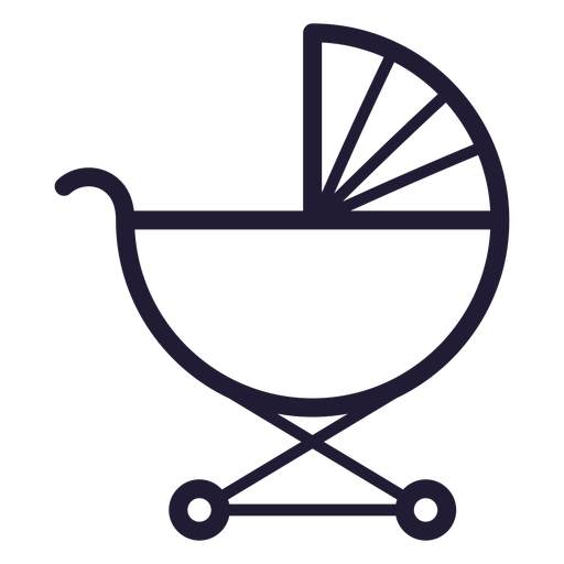Baby Carriage Stroke Icon