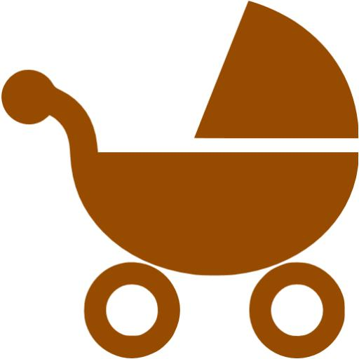 Brown Stroller Icon