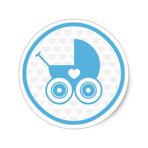 Custom Blue Pram Sticker Templates