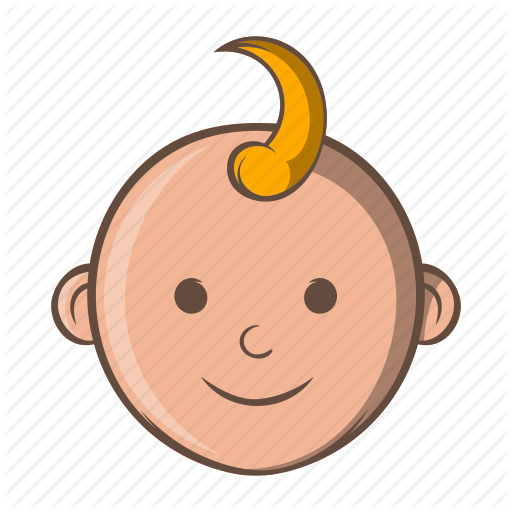 Baby, Boy, Cartoon, Child, Face, Kid, Little Icon