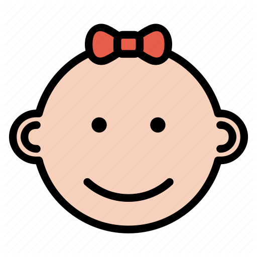 Baby, Expression, Face, Girl, Happy Icon