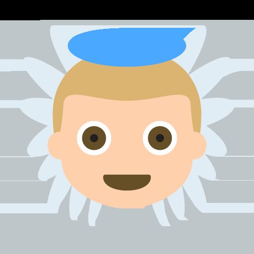 Baby Angel Medium Light Skin Tone Emoji Emoticon Vector Icon